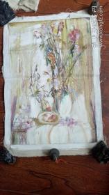 布面油画:花卉  长70厘米*45厘米【油画11】年代不详