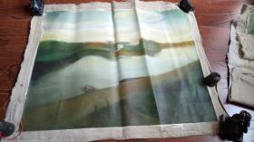 布面油画: 风光 长75厘米*65厘米【油画9】年代不详