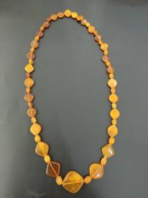 欧洲 琥珀 蜜蜡 项链 41.5克 70cm
