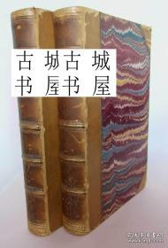 收藏版,1850年出版 萨克雷著《潘登尼斯》精装两卷本 精美插图
