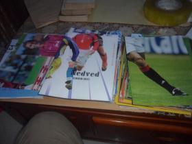 足球俱乐部 杂志(1996年----2004年 海报183张  合售)原版现货  具体目录见描述