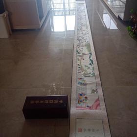 中国杨柳青年画 百子图  330cm*21cm