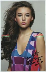 2015年维吉妮亚小姐(青少年)冠军安妮亲笔签名肖像印刷照片。签名保真手写B