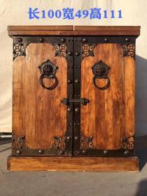 榆木酒柜,做工精致细腻独特.份量十足,运费自理