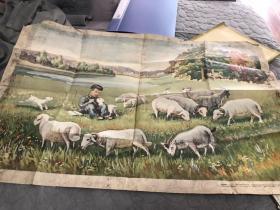 1957年牧羊图宣传画大画