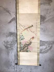 旧藏 珍品王震人物字画,人物逼真,画工精细,保存完整,书房客厅陈列,尺寸170*54厘米,全品