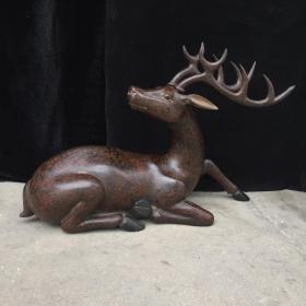 木胎漆器鹿摆件 大气高端
