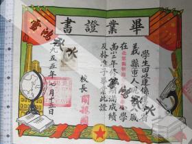 辽宁北票毕业证书——1955.7