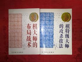 名家经典:特级象棋大师的攻杀技法、象棋大师的布局战术(全二册)仅印3000套