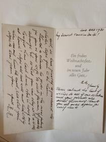 毛毛   1980年从美国寄的英文贺卡
