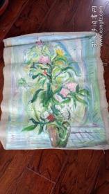 布面油画一大幅 :双面画  长85厘米*68厘米,年代不详【油画17】