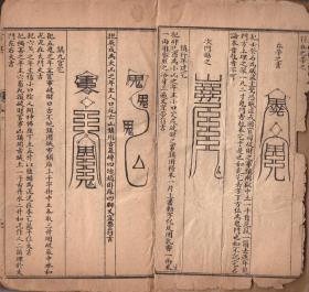 木刻板符书 《绘图阴阳三元》27筒页 复印件