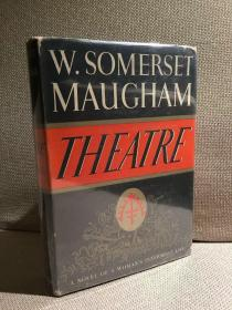 Theatre(毛姆《剧院风情》,代表作,布面精装,难得带护封,毛边,1937年美国初版)