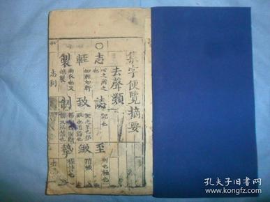 清代写刻木板《集字便览摘要》,全一册.