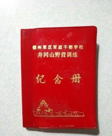 福州军区军政干部学校井冈山野营训练-纪念册(共计42个纪念章印戳)  稀有