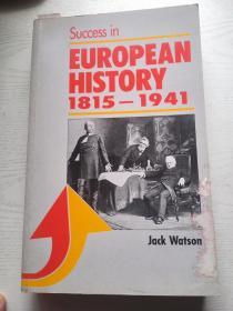 Success in European History 1815-1941