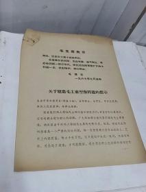 1967年7月5日毛主席批示——关于建造毛主席雕像问题的指示