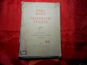《马克思、恩格斯画集》 可能是德文原版,目录和39张画页全,接近八开,50年代出版)