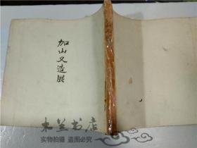 原版日本日文画册 加山又造展 日本经济新闻社 昭和53年 大16开平装