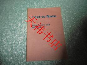 Text to Note(听力摘要 练习答案)(英文)