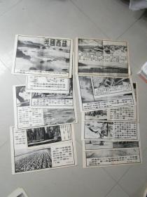 民国时期宣传画宣传图片 美国西部 13张合售