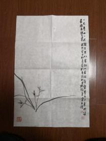 王俊先生画作,兰花