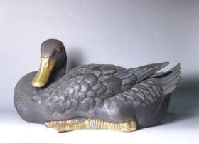 铜鸭 铜摆件 鎏金鸭 先知鸭 收藏品