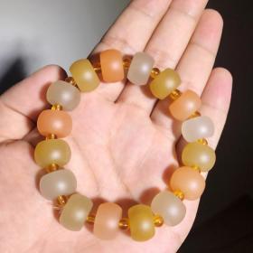 纯天然顶级宝石手链,温润无比堪比羊脂白玉宝石手链可遇不可求值得永久收藏