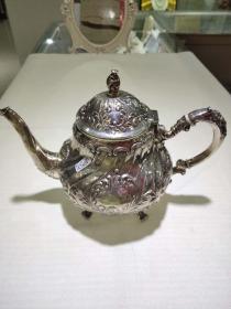 西洋 欧洲古董 德国 925 银壶 咖啡壶 茶壶 手工制作 Christoph Wodmann 手工制作 1068克 21cm高