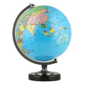 博目地球仪:30cm中英文政区/星座双画面地球仪(LED灯光型)16-30-09双子星