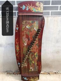 古筝,保存完整,大漆工艺精美。 复古包浆 可弹奏运费自理