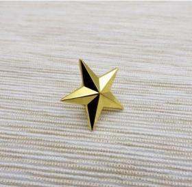 极品顶级美国五角星一星准将军衔金色徽章不掉色可佩带西服上质量上乘堪比原品值得佩戴和收藏