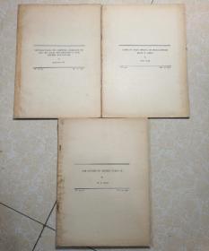 内容为中国动植物研究 1933年 共3册 英文版.