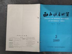西南矿产地质 1989 3