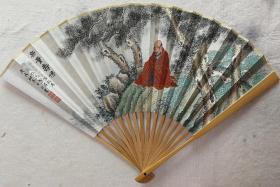 成扇011:杨正霖画扇、南伍书法(已售)
