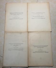 内容为中国动植物研究 1931年 共4册 英文版.