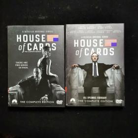 DVD光盘 HOUSE OF CARDS纸牌屋1+2 原装进口5谍硬盒精装