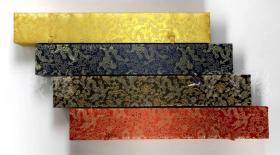 清末或民国 精印 邓石如《朱夫子治家格言》四条屏 一整幅(纸本立轴,画心约3.8平尺*4)HXTX108854