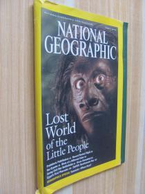 NATIONAL GEOGRAPHI  LOST   world   of  the  little   people