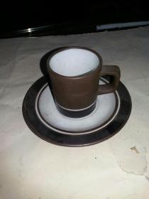 紫砂胎  茶杯 托盘 1套