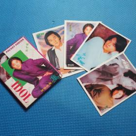 郑伊健偶像珍藏集明信片类卡片一套十张带卡套