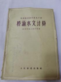 铁路勘测设计技术手册:桥涵水文计算