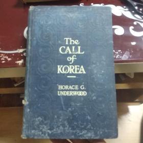 THE CALL OF KOREA 韩国的呼唤 政治社会宗教 民国旧书