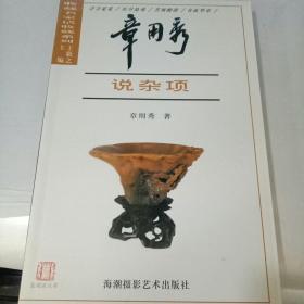 收藏名家话收藏系列 章用秀说杂项 32开铜版全彩印.