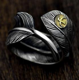 S925纯银戒指,羽毛纯银戒指鬼斧神工,技艺精湛可遇不可求的戒指神品值得收藏和佩戴