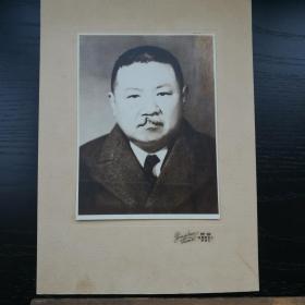 民国 照片 带底板 容新 上海 棋盘街交通路 22x30 14x19cm