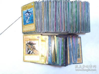 游戏王卡片 260张其中闪卡[金卡]18张 还有很多边上 有闪点的。