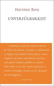 德文原版 德语 Unverfügbarkeit Hartmut Rosa 德国耶拿大学哈尔穆特·罗莎教授 2018最新