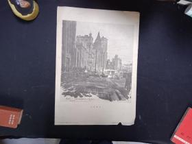 1957年8开宣传画-----上海风景