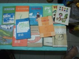 《拉汉识字课本》《小学作文系统训练》《我爱我的家乡》《劳动》《自然》《备课教案》《平面解析几何》《小学语文古诗浅讲》《备课教案》《小学语文词语集释》《小学作文目标训练》《小学生也看》13本合售